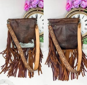 American Darling - Leather handbag with fringe