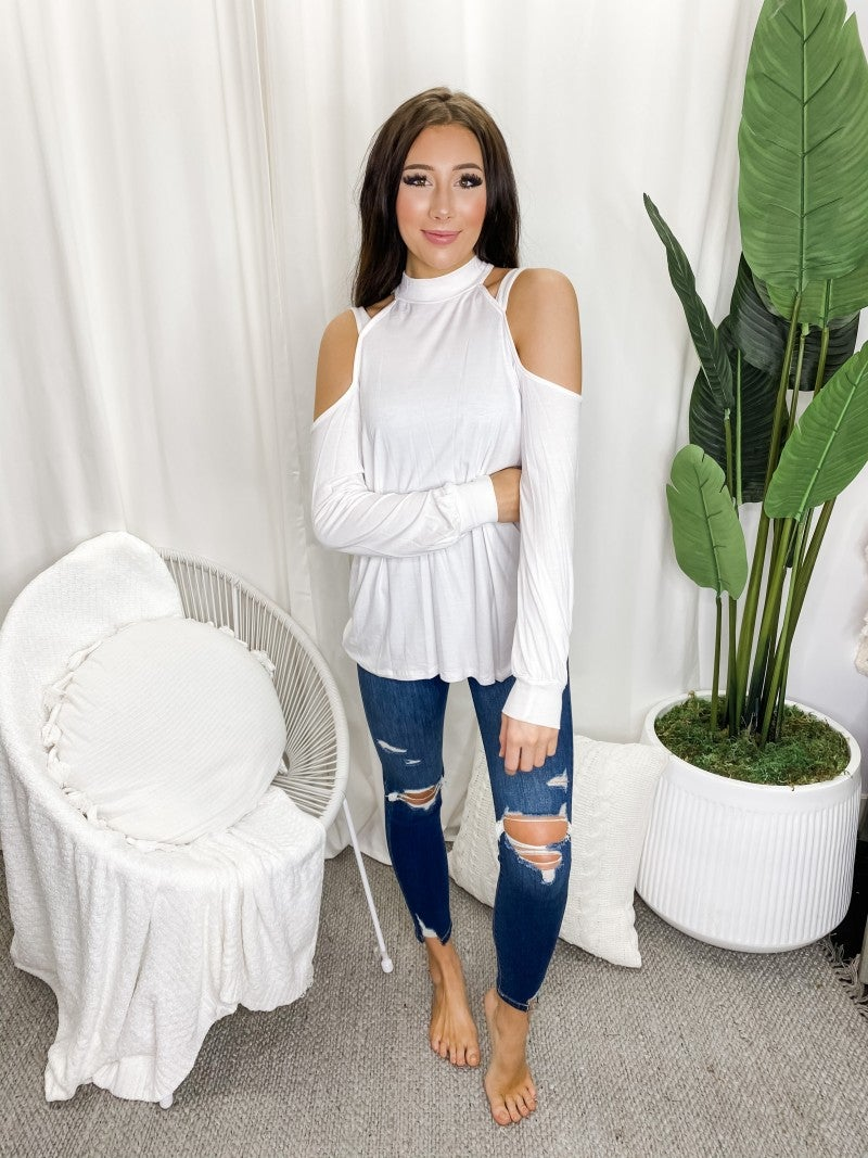 Hailey Apparel - Cold shoulder long sleeve top