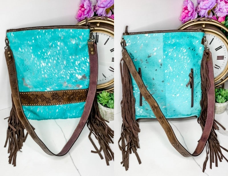 American Darling - Large Purse with fringe and handcrafted leatherwork