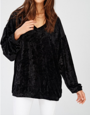 Wishlist - Long sleeve crushed velvet top