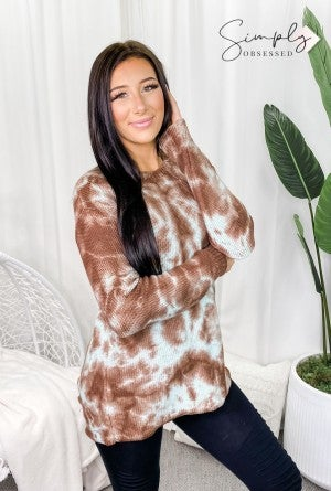 T-Party - Slit back long sleeve sweater