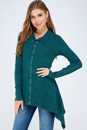 URBAN X-Mineral Washed Long Sleeve Thermal Tunic