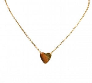 Dainty Chain Solid Heart Necklace