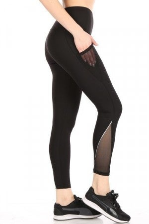 S&G APPAREL-Tricot HW Tummy Control Leggings Tape & Stripe