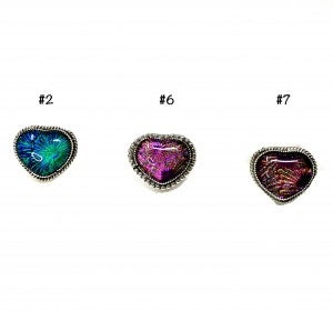 M&S Dichroic Glass Heart Ring