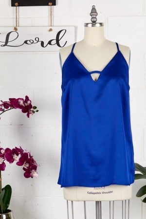 PS Kate-Solid Woven Camisole With Adjustable Strap