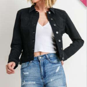 C'est Toi - Basic slim fit denim jacket(plus)