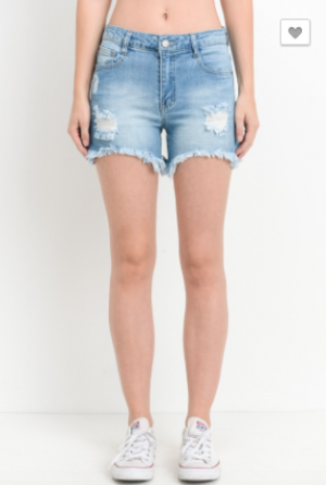 Black Label - Distressed Shorts