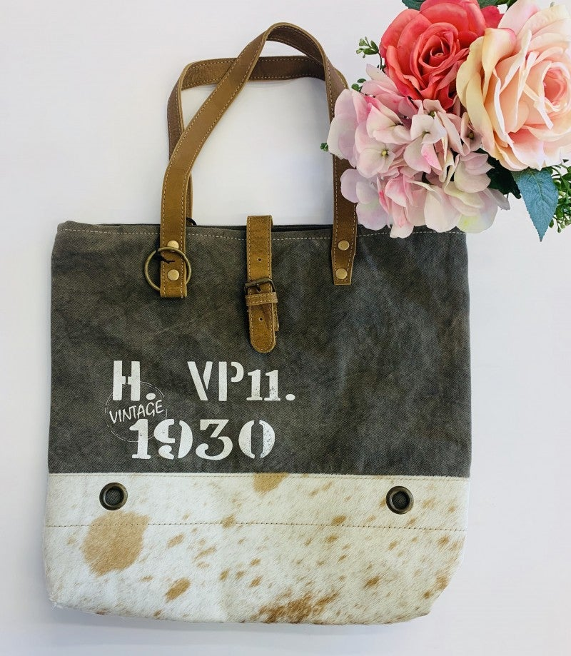 Myra Bag- Vintage 1930 canvas tote bag