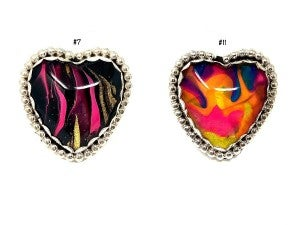 M&S Hand-Painted Heart Glass