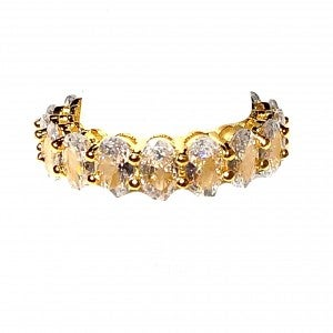 Oval Stone Gold Ring Band