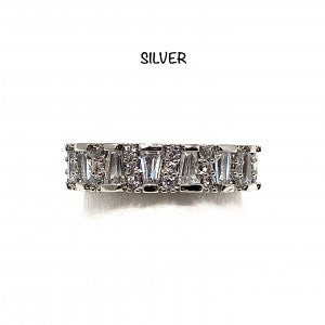 Single Layered CZ Baguette Ring