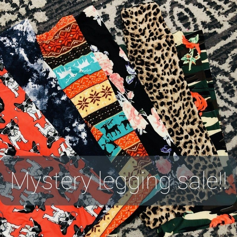 Mystery patterned legging blow out moving sale