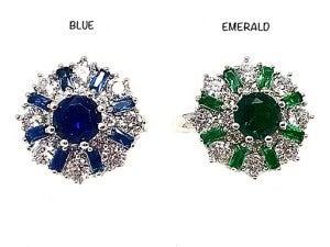 Diamante Flower Ring