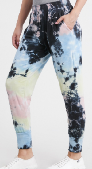 T-Party - Tie dye print loose fit joggers