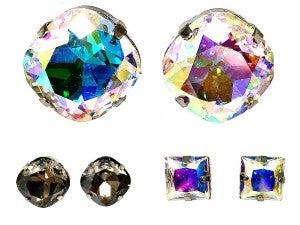 Extravagant Jeweled Stud Earrings