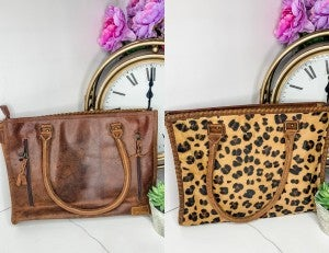 American Darling - Medium cheetah print handbag