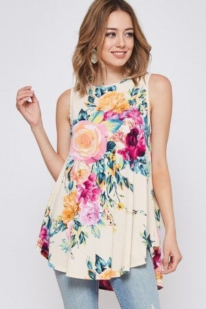 BEESON RIVER-Floral Tank Top