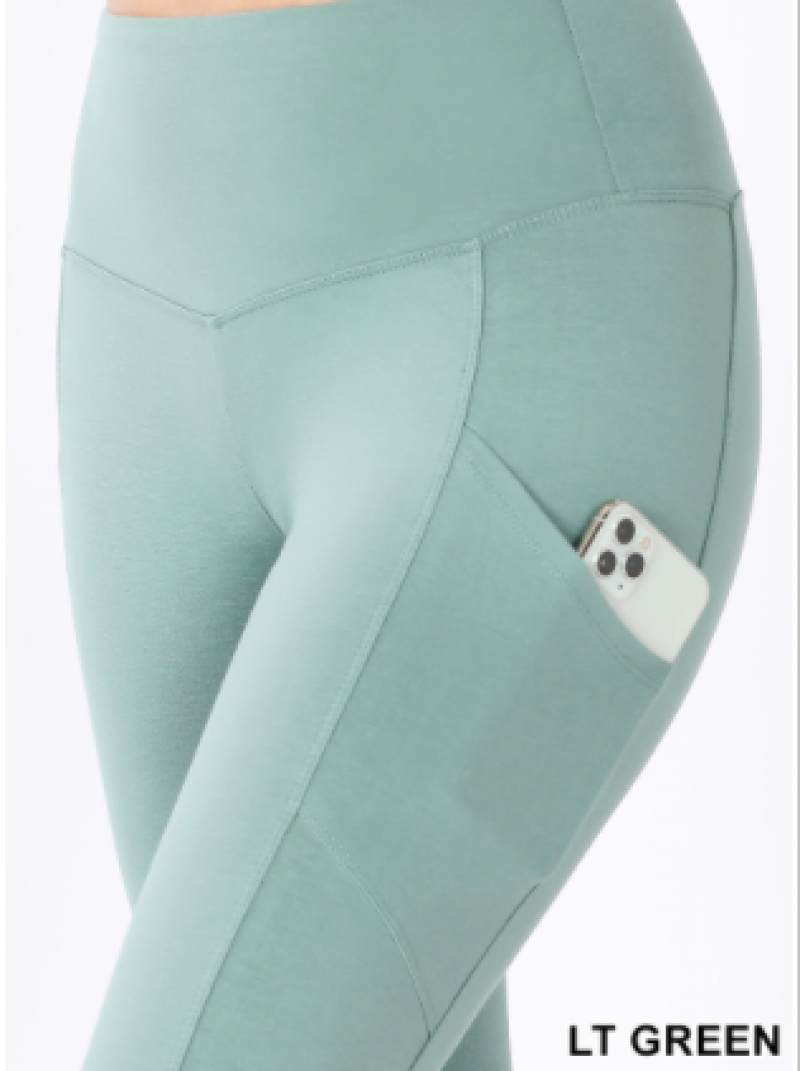 WIde Waistband Pocket Leggings(plus)