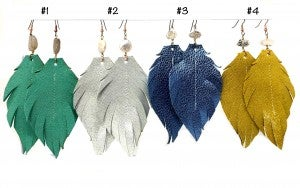 Emerge XL Laura Feather Earrings with Stones