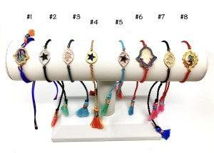 Rope Tassel Charm Bracelet
