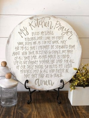 My Kitchen Prayer Wooden Tray