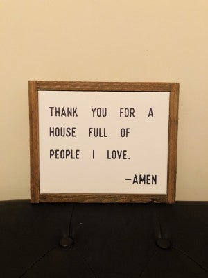 """Amen"" Framed Sign"