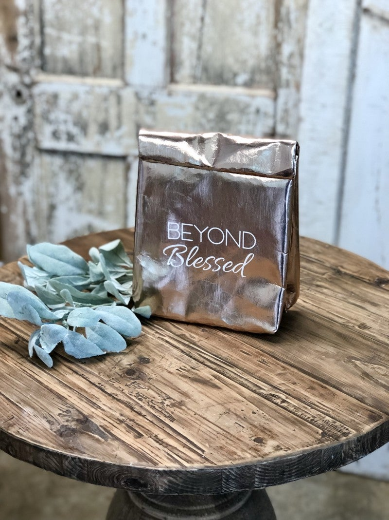 "Rose Gold ""Beyond Blessed"" Lunch Bag"