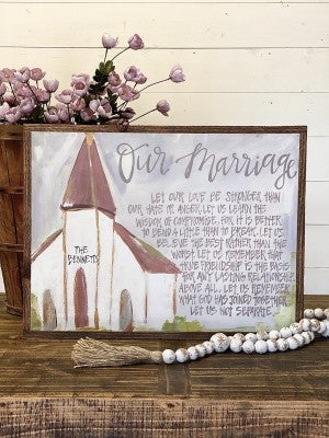Marriage Canvas-FREE Personalization!