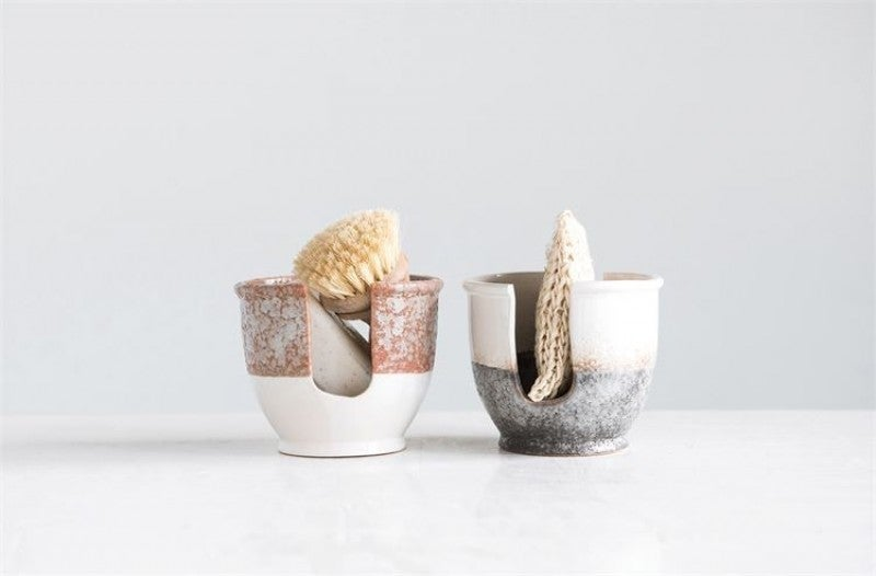 Stoneware Glazed Sponge Holder