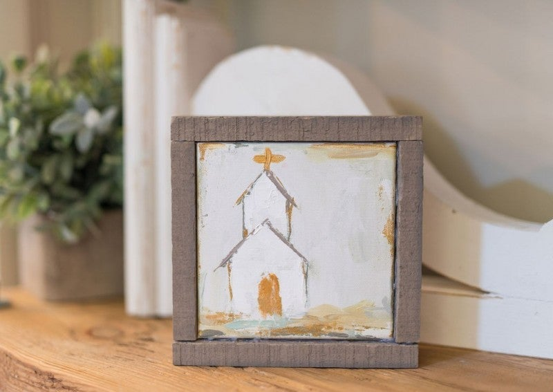 Small Church Canvas