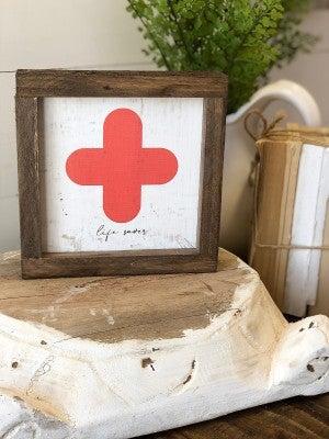 """""""Life Saver"""" Framed Wood Sign"""