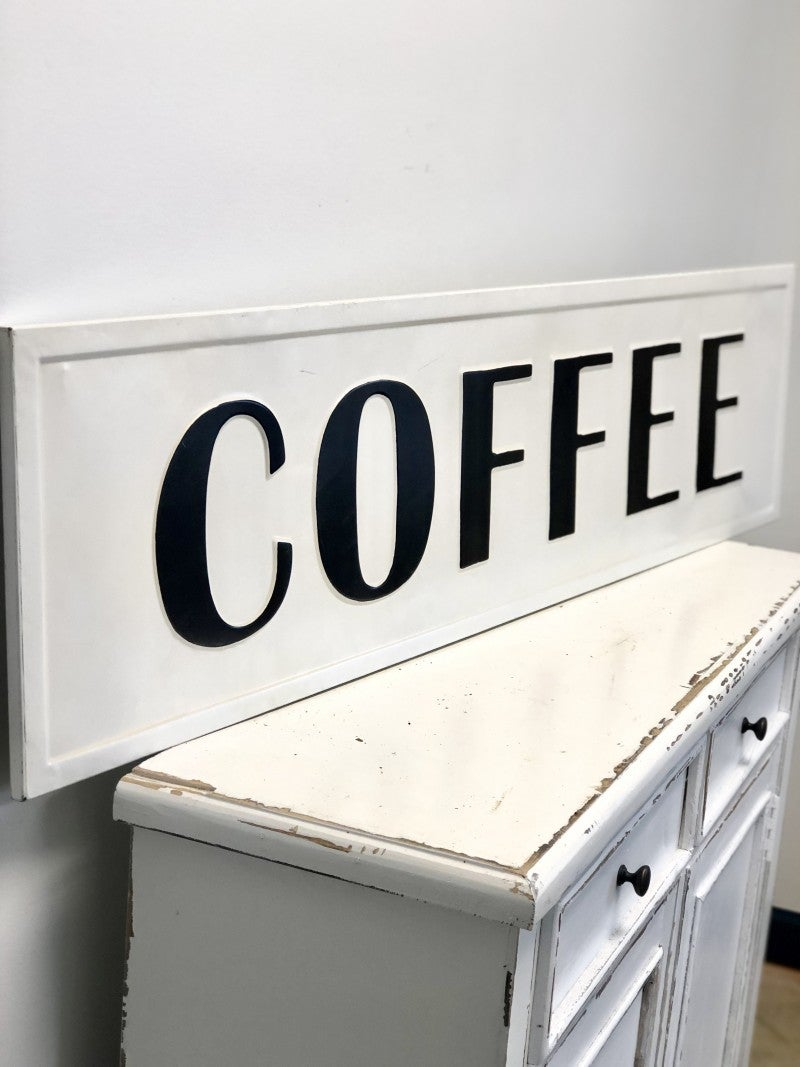 Embossed Coffee Sign