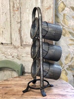 Metal Utensil Stand/Wine Holder