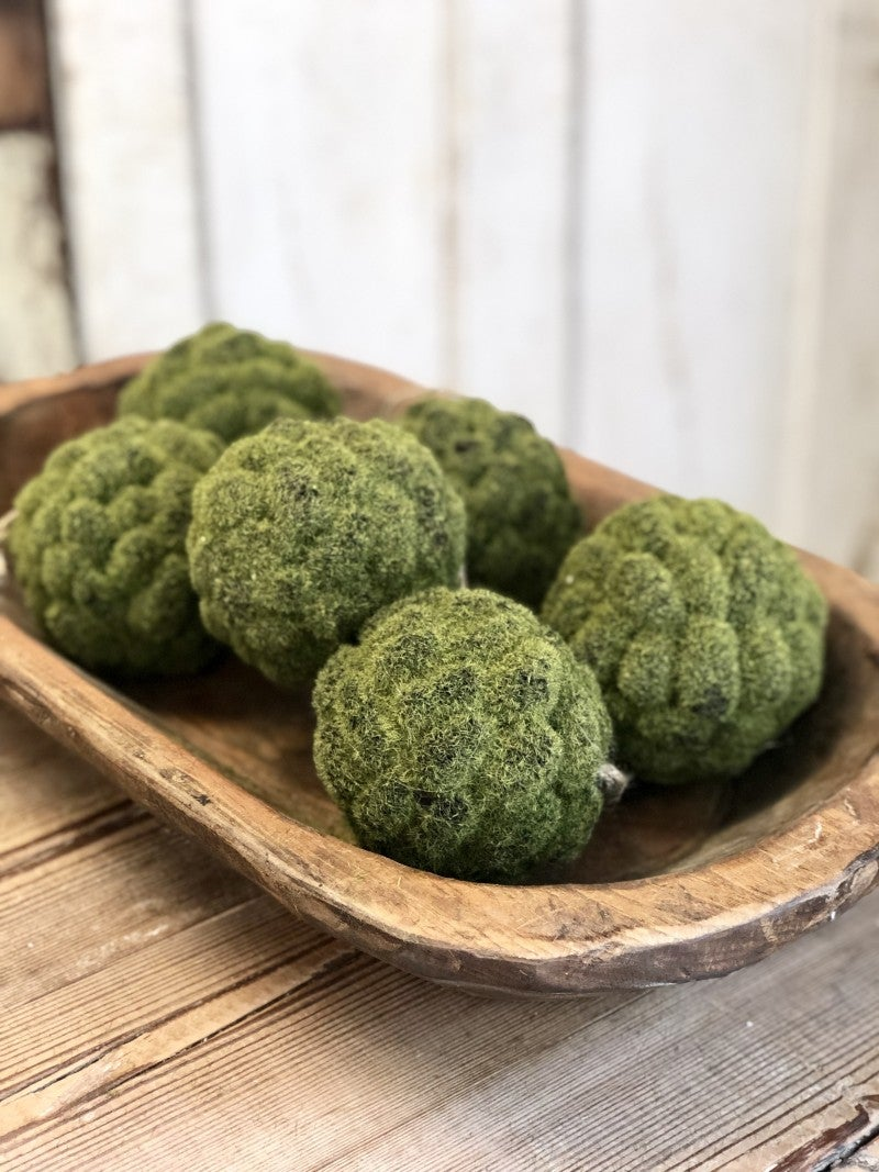Mossy Pinecone Ball, Set of 2