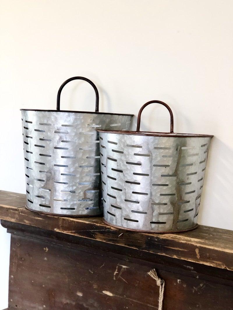 Galvanized Wall Basket