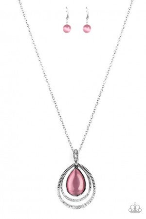 GLOW and Tell -Pink Necklace