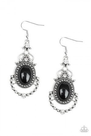 CAMEO and Juliet - Black Earring