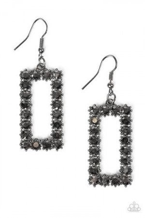 Mirror, Mirror - Earring  Black