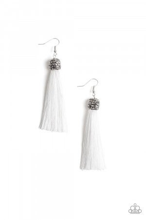 Make Room For Plume White Earring