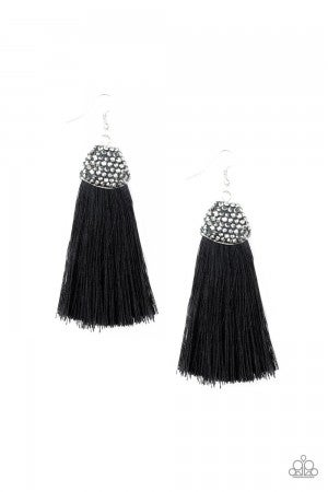 Razzle Riot Black Earring