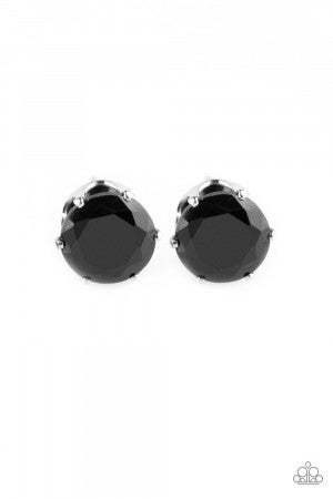 Come Out On Top - Black Post Earring