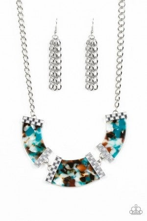 HAUTE Blooded - Blue Necklace