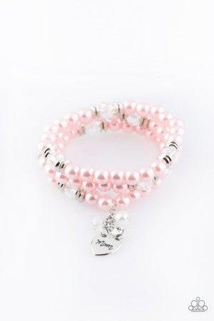 Mom Wow Pink Bracelet