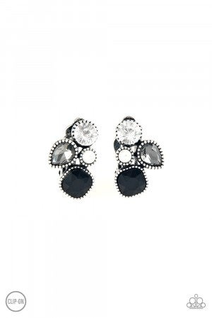 Super Superstar Black Earring Clip-On