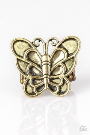 Sky High Butterfly - Brass