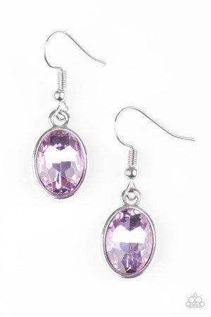 Oceans Away Purple Earring