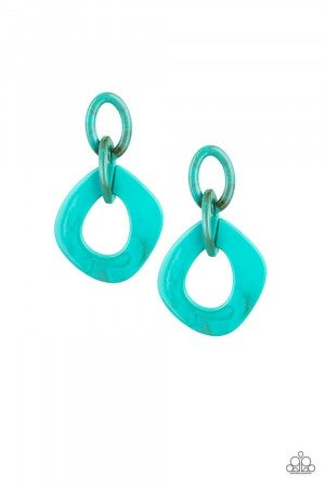Torrid Tropicana Blue Earring Post