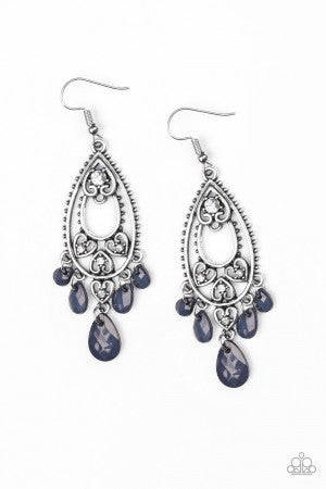 Fashion Flirt - Blue Earrings