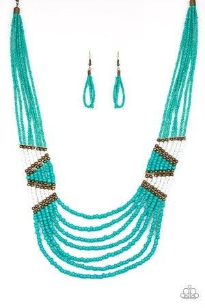 Kickin It Outback - Blue Necklace